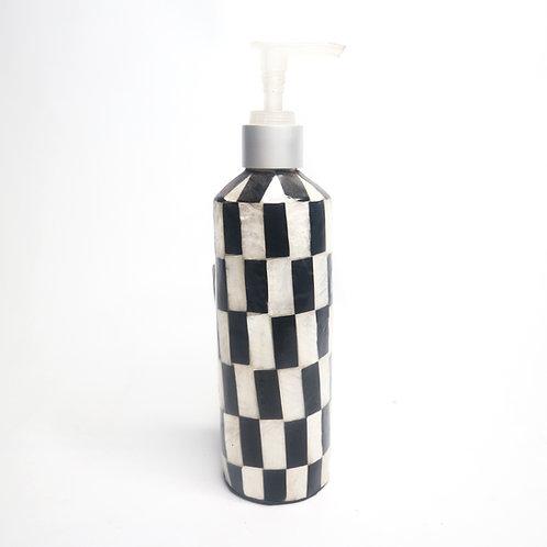Multifunction Dispenser Pump Bottle in Black and White