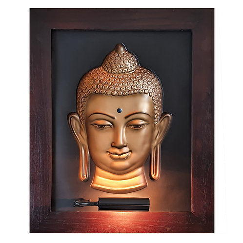 Golden Nepal Budha 3D Wall Art Lamp
