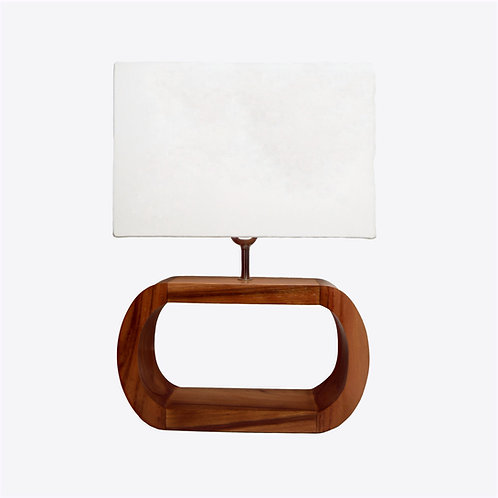Oval Table Lamp With Cotton Shade