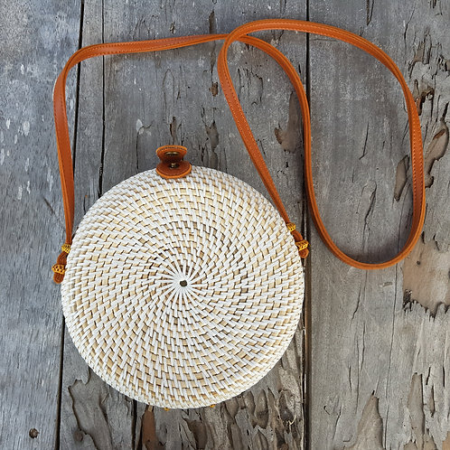 Rattan Bag Natural in white