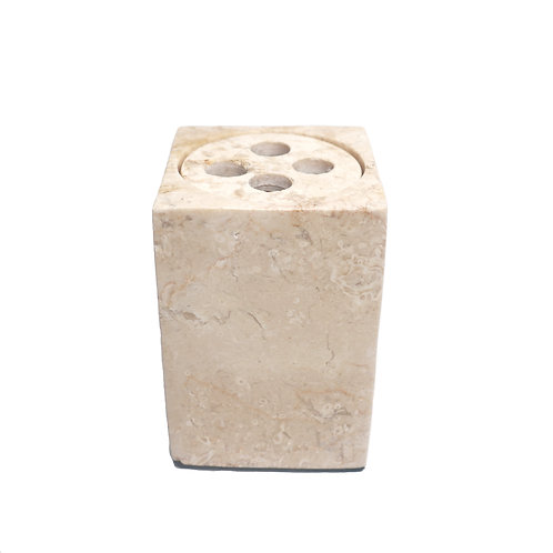 Square Marble Collection Toothbrush Holder