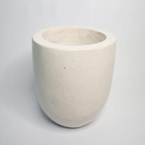Terrazzo Plant Pot in White
