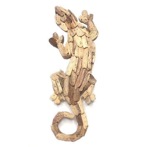 Gecko Driftwood Decoration