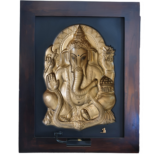 Golden Ganesha 3D Wall Art Lamp