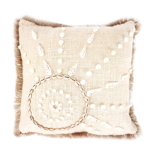 Natural Shell Raw Cotton Pillow Case