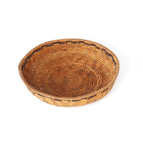 Rattan bowl with weaving (big)