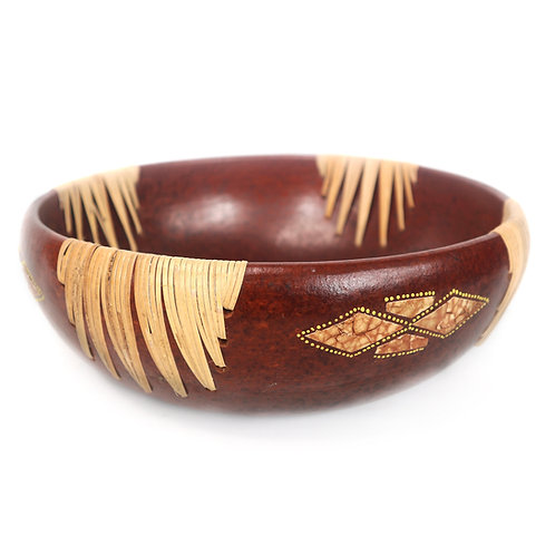 Clay BowlWith Rattan