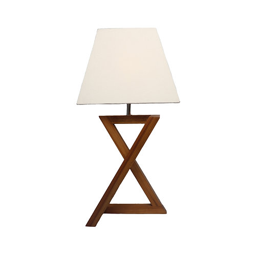 Zigzag Table Lamp With Cotton Shade