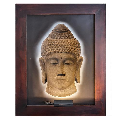 Black Sands Budha 3D Wall Art Lamp