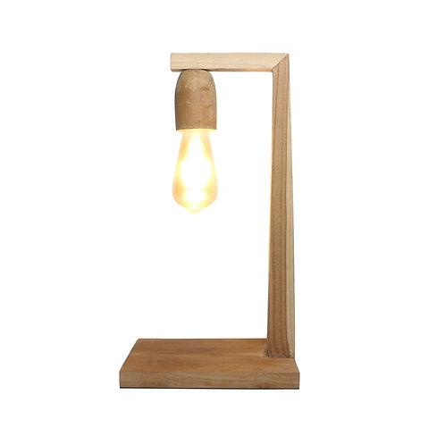 Teak Wood Table Lamp