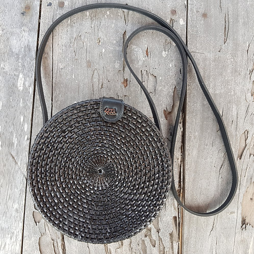 Rattan Bag Natural in black color