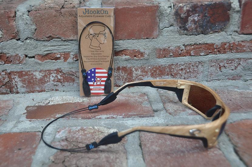 Black & Blue HookOn Adjustable Eyewear Cable