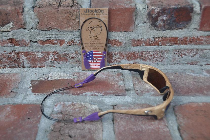 Purple & Gold HookOn Adjustable eyewear Cable