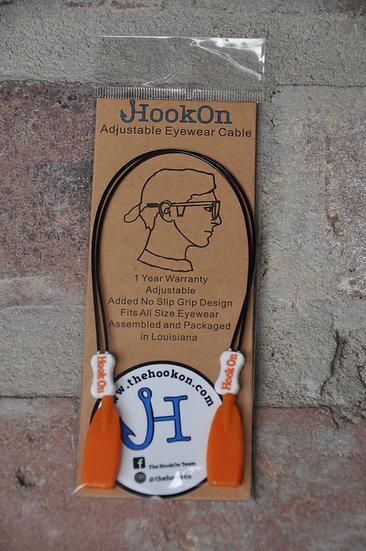 Orange & White HookOn Adjustable Eyewear Cable