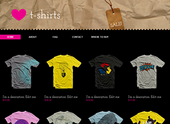 Graphic Tees Website Template WIX - T shirt design website template