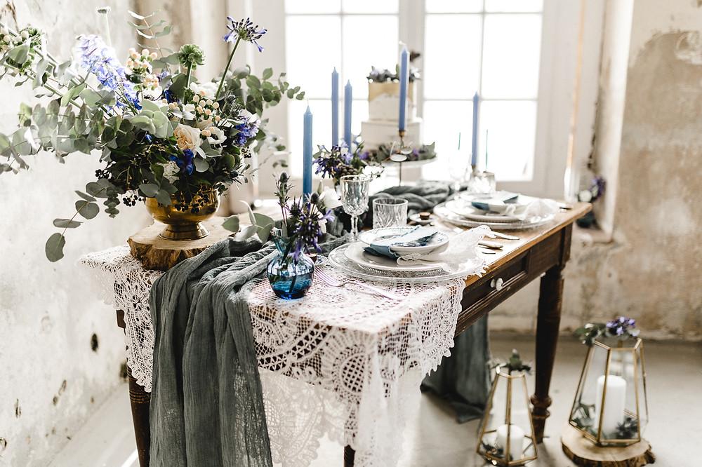 Vintage Hochzeit Tischdekoration