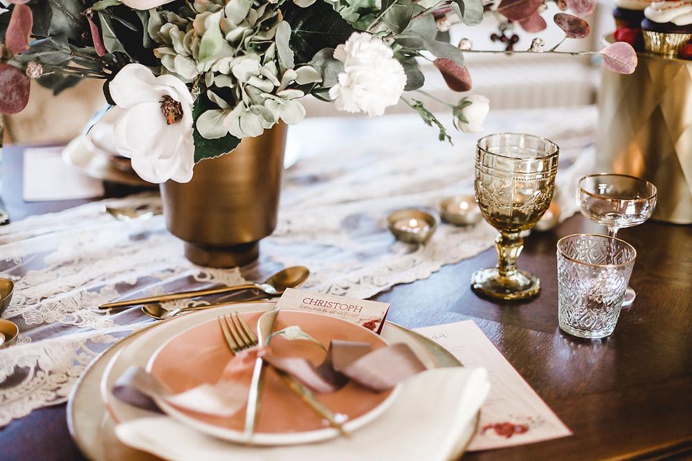 Bohohochzeit Tischdekoration