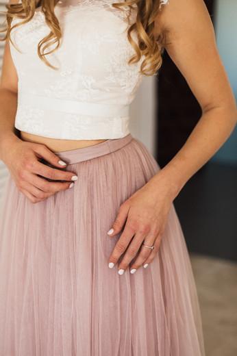 Detailaufnahme Brautkleid