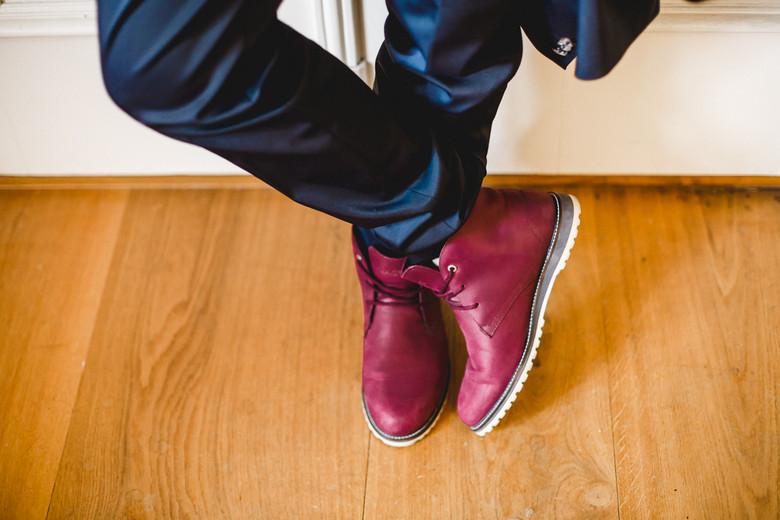Schuhe Bräutigam Boho-Hochzeit