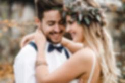 Bohohochzeit Brautpaar