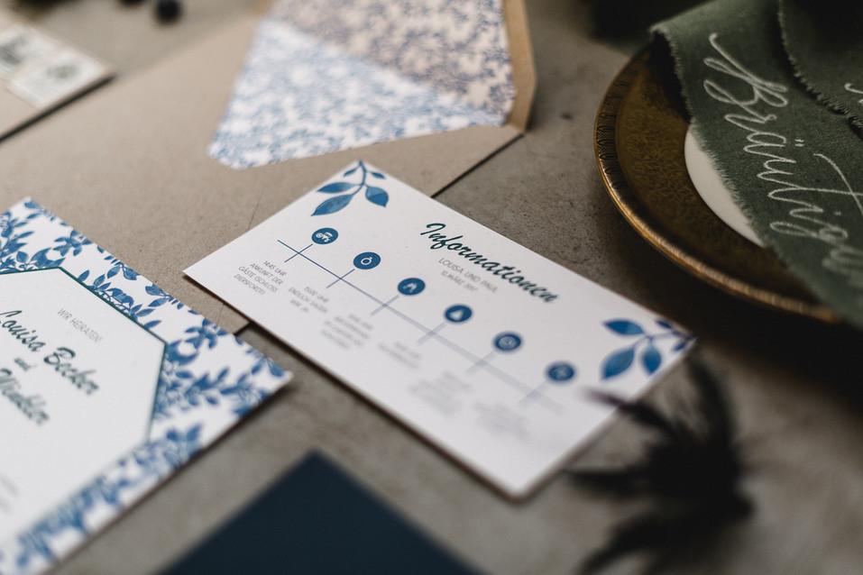 Infokarte Hochzeit Einladung