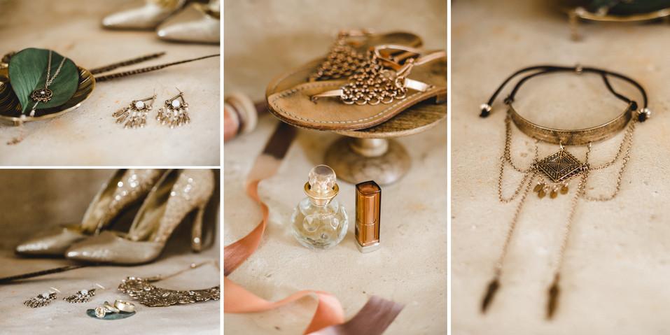 Detailaufnahmen Schmuck und Accessoires für die Braut