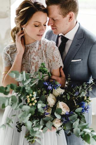 Vintage Hochzeit Brautpaar