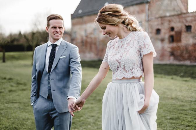 Brautpaar im Schlosshotel Diersfordt