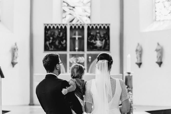 Hochzeitsfotograf Berlin, kirchliche Trauung, Brautpaar