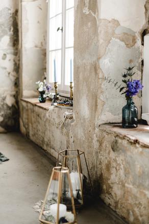 Alte Scheune Fensterdeko Hochzeit