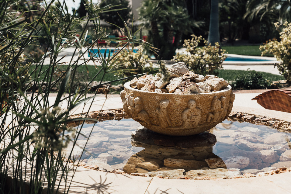 Detailaufnahme Springbrunnen Mallorca