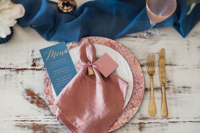 Menükarte und Tischdeko Hochzeit