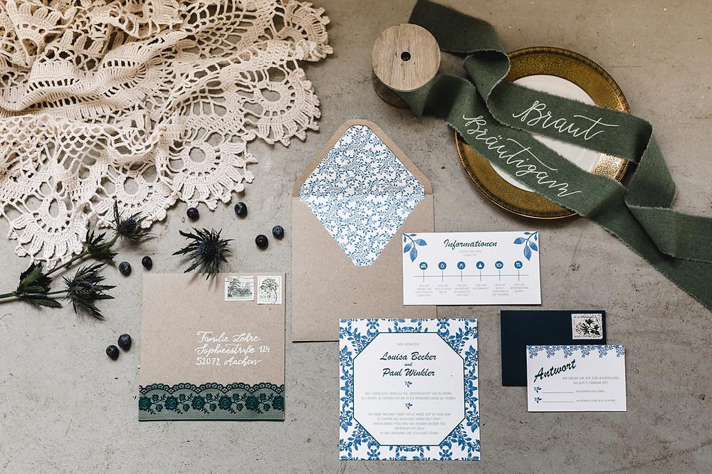 Vintage Hochzeit Papeterie