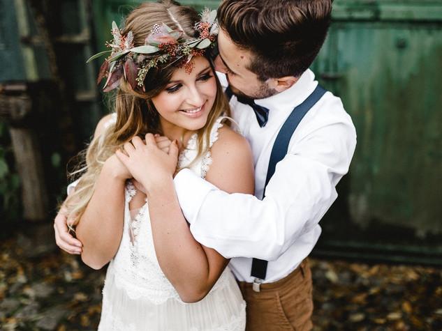 Boho-Herbst-Hochzeitsinspiration