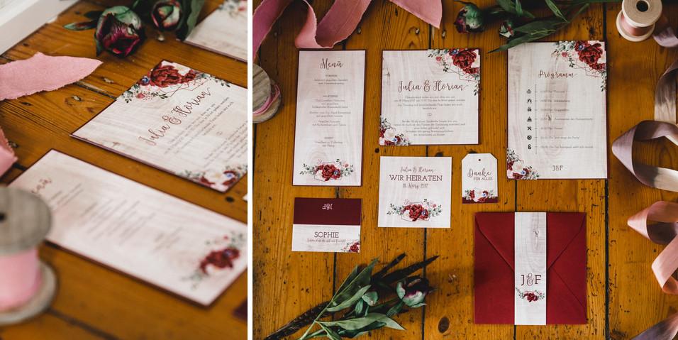 Hochzeitspapeterie für Boho-Hochzeit