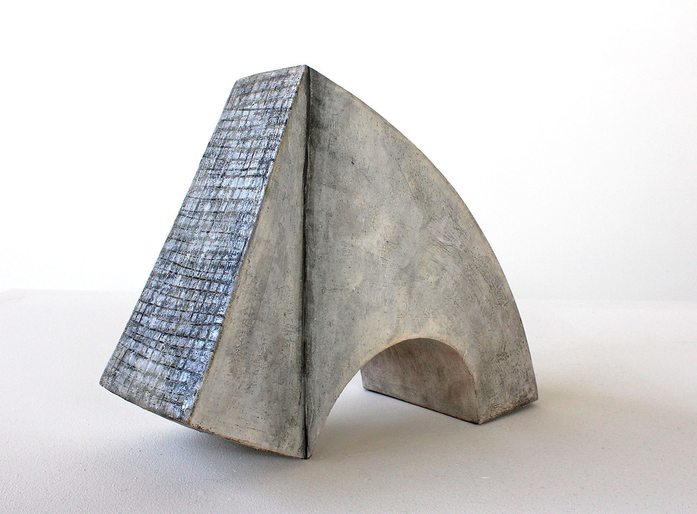 handmade ceramic sculpture inspired by architecture