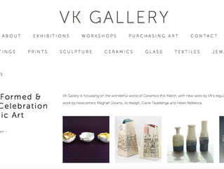 VK Gallery, 'Thrown, Formed & Fired: A Celebration In Ceramic Art' - on now until March