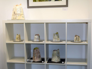 My ceramics in the Graduate Showcase, Bevere Gallery