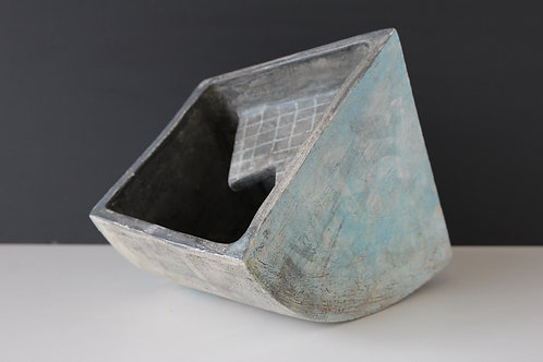 Medium open ceramic sculpture with inside detail