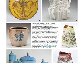Feature in Ceramics Monthly USA 'Exposure'