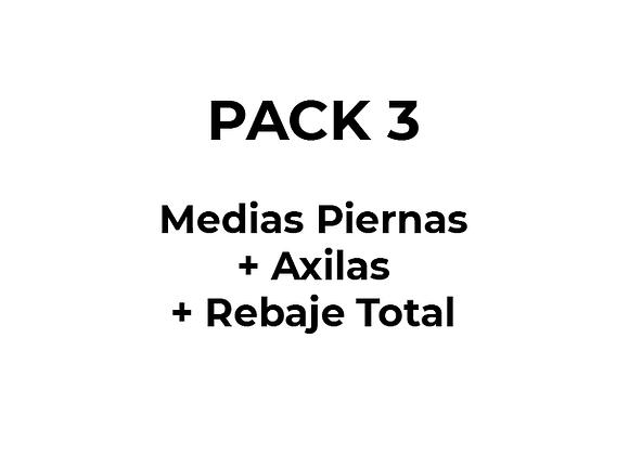 Depilación Láser Pack 3