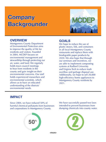 Company Backgrounder