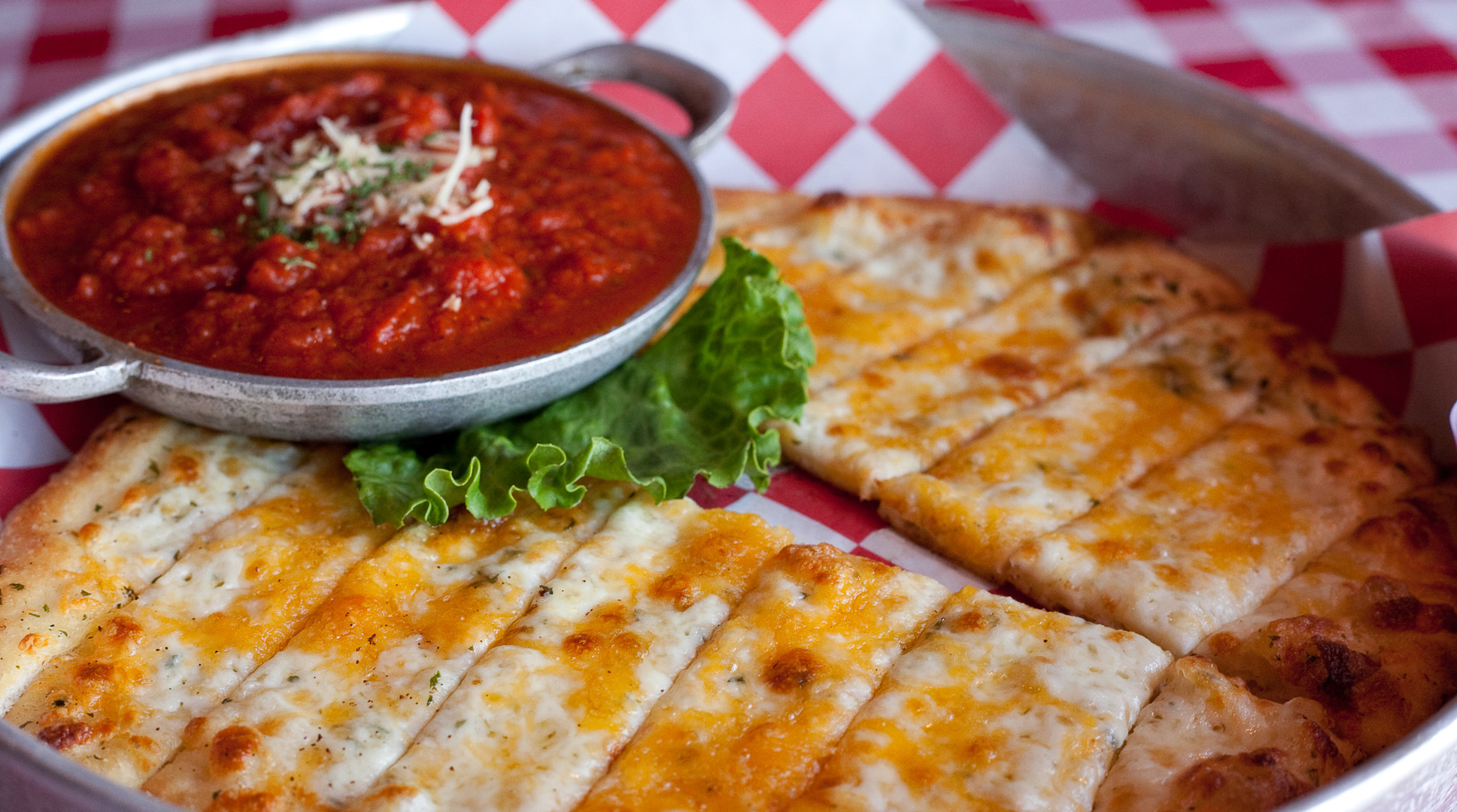 Flat Bread Cheese Breadsticks
