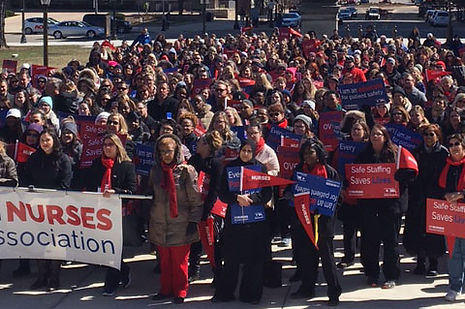 Michigan Nurses Association Rally in Lansing