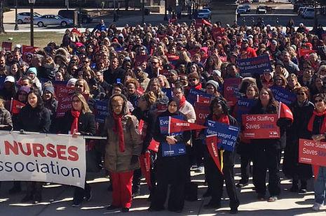 Michigan Nurses Association Rally in Lansing