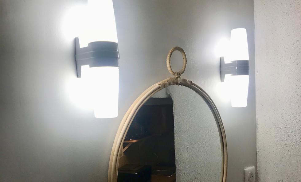 Miroir et éclairage