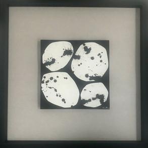 Collage Organic Form ultra noir 20 x 20 N°2 - 2020