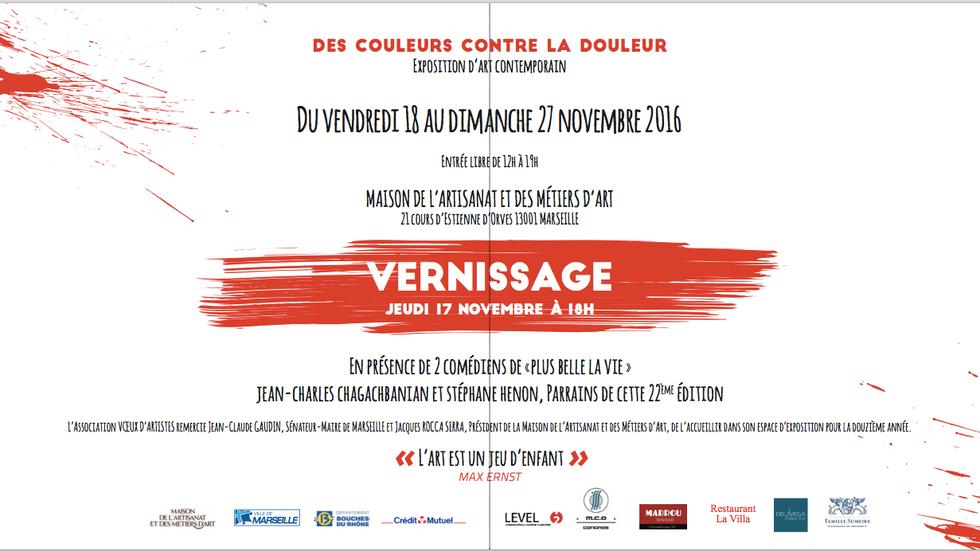 Exposition Vœux d'artistes du 18 au 28 novembre à Marseille