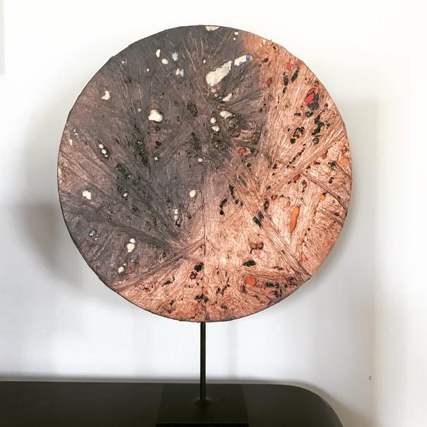 sculpture lune rousse