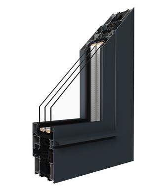 Fenster MB-86 SI  Das moderne Aluminiumsystem für anspruchsvolle wärme- und schallgedämpfte Architektur.